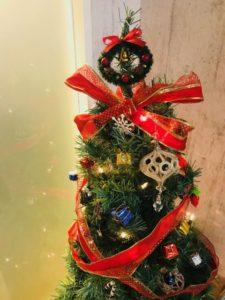今年のツリーはリボンが可愛い♡