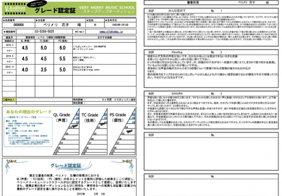 ボーカル上達法 Ⅱ 〜ベリメリ検定への挑戦〜