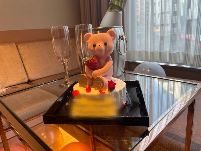 【横浜校】ピンクのクマのケーキ